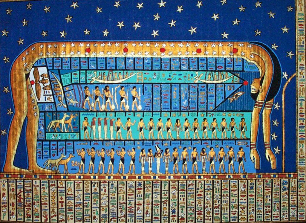 Fresque égyptienne de la déesse Nout